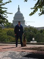 John Bonville and Bo with Capitol in bac