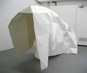 Lucie Hallenstein Shelter, 2010 paper and glue courtesy and © the artist