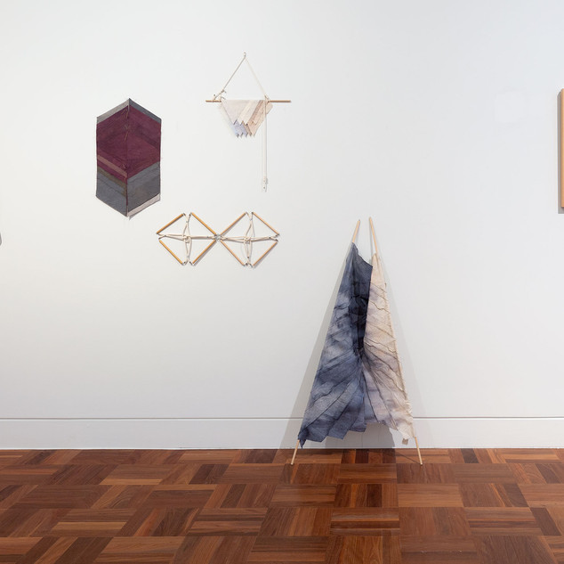 Starlie Geikie Rapala, Standard, Tiles, Pennant, Ensign,  We were river people 2012–13.  © and courtesy the artist.  Image Christian Capurro
