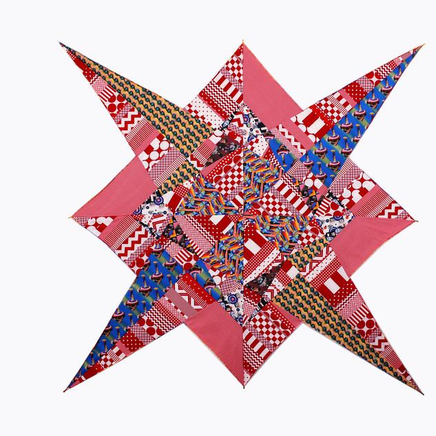 Jemima Wyman Propaganda patchwork 2016 textile 205 x 205 cm © the artist, courtesy the artist, Sullivan+Strumpf, Sydney / Singapore and Milani Gallery, Brisbane