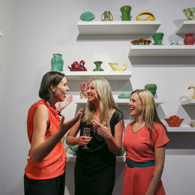 Rebecca Coates, Anna Briers and Lyndal Walker exhibition opening