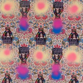 Jemima Wyman Propaganda textiles – Washington DC, Million Mask March, 5th November 2013 (detail) 2016–17.  © the artist, courtesy the artist and Sullivan+Strumpf, Sydney / Singapore and Milani Gallery, Brisbane
