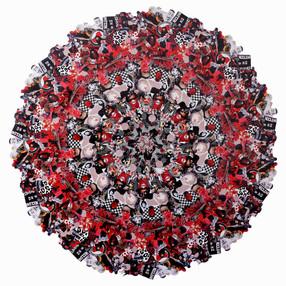 Jemima Wyman Aggregate Icon (RBW)—— (2016) hand-cut digital photographs 173 cm diameter courtesy the artist and Sullivan + Strumpf, Sydney / Singapore