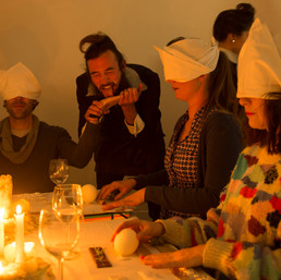 Roundangle Potion, Dining with the Scent of Sins, 2013 still from interactive olfactory performance courtesy and © the artist