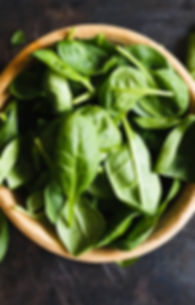 Spinich in a bowl