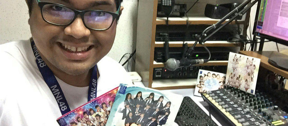 A Radio DJ shares MNL48 songs via the airwaves