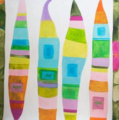 no 5.Feels, 183 cm x 183 cm, mixed media, hand stitching,silk on canvas.JPG