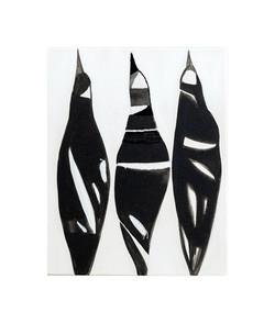 small totem series-magpie,40 cm x 50 cm,