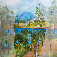 A.ode to country,183 cm x 183 cm, mixed media on linen.JPG