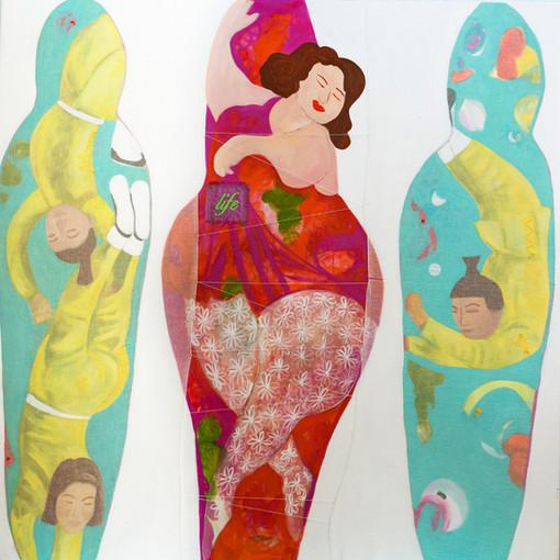 life skiddles,183 cm x 183 cm ,mixed media, hand stitching on linen.JPG