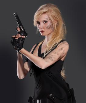 Girl with Gun couleur