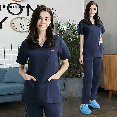 Breathable Medical Work Uniforms V-Neck Health Services Scrubs Hospital