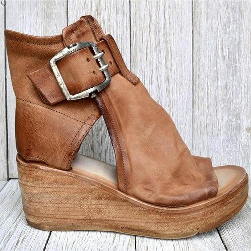 Summer Women Sandals Toe Peep Solid Color  Shoes Female Buckle Sandals 2021