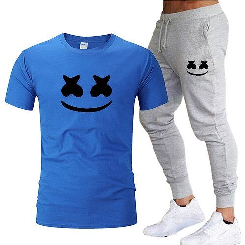 Men's Jogging Suit Fitness Clothes Men's T-Shirt Pants 2-Piece Set