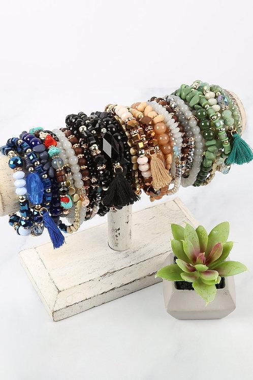 Hdb2201 - Boho Tassel Charm Bracelet