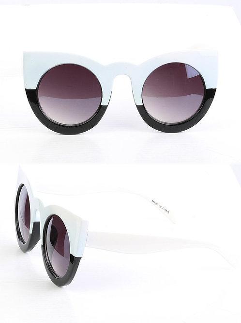 Trendy Colorblock Cateyes Sunglasses