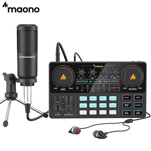 MAONO AU-PM360TR Condenser Microphone 3.5mm to XLR Cardoid Mic With Tripod