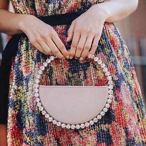 Rhinestone Handbags Fashion  Ladies Party Round Clutch Bags and Wedding Purse