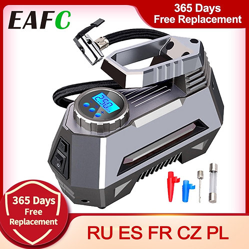 Portable Air Compressor Tire Inflator - Car Tire Pump With Digital Pressure