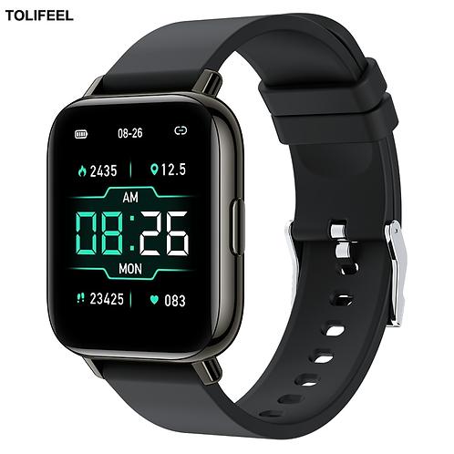 1.65 Inch Smartwatch Men Full Touch Sleep Blood Pressure Fitness