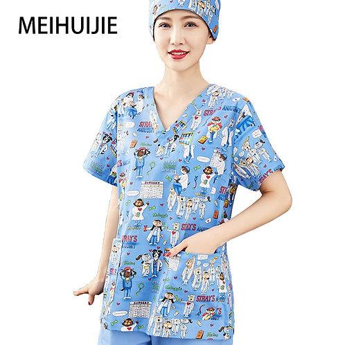 Scrubs Nursing Workwear Women Scrubs Laboratory Uniform Scrub Uniform