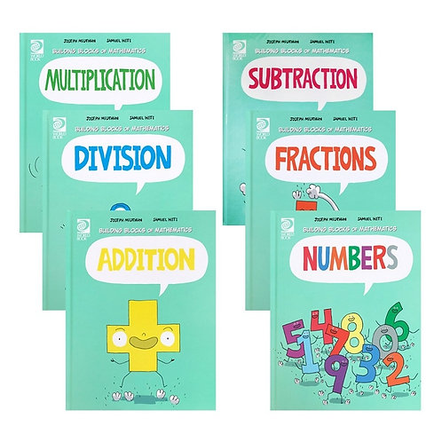 6 Books/Set Building Blocks of Mathematics Learning Maths Collection Book
