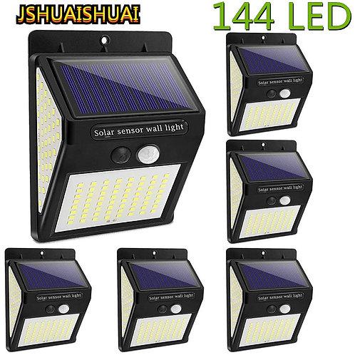New Upgrade 144/100 LED Solar Wall Light Outdoor Solar Lamp PIR Motion Sensor