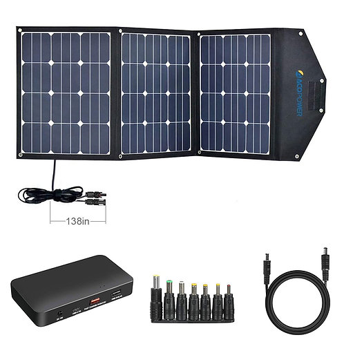 ACOPOWER LTK 120W Foldable Solar Panel Suitcase