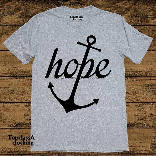 Christian T Shirt Hope Anchor Religious Bible Gospel Jesus Grace Faith Love Tee