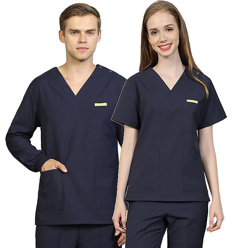 Black Navy Scrub Uniform Nurse Workwear