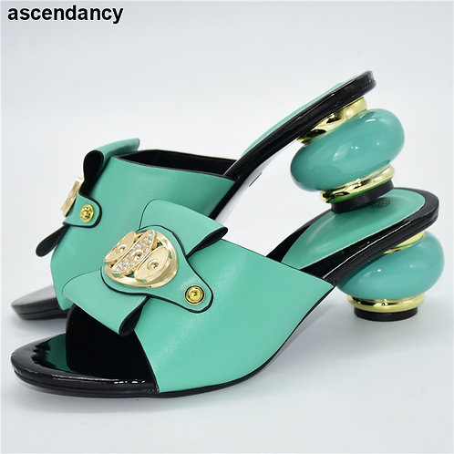 New Italian in Women High Quality African Party Pumps 2021 Special Arrivals