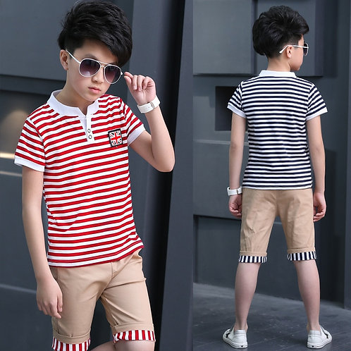 Boys Clothes New Boys Summer Clothing Sets Short Sets Tops +Pants Children Short