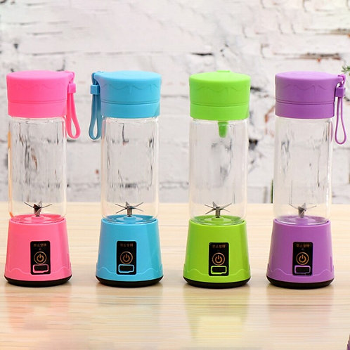 380Ml USB Rechargeable Blender Mixer 6 Blades Juicer Bottle Cup  Fruit Smoothie