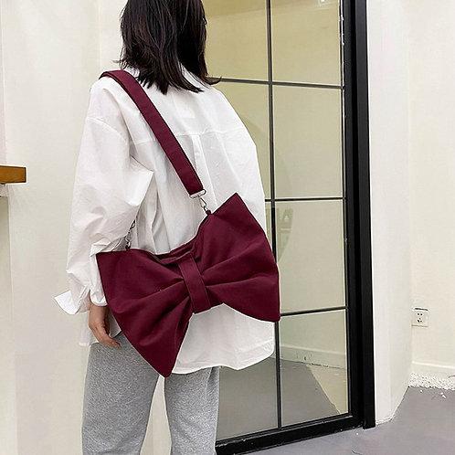 Cute Bow Shoulder Bag Woman Niche Design Messenger Bags Underarm Pack Crossbody