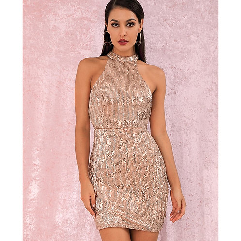 Amora Nude Party Dress