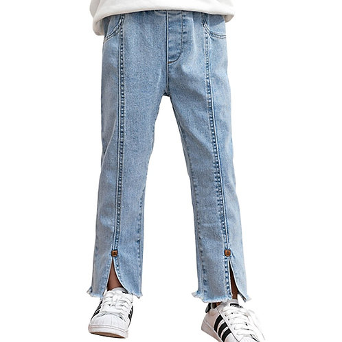 Girls Jeans Ripped Children's Jeans for Girls Casual Style Trousers for Children