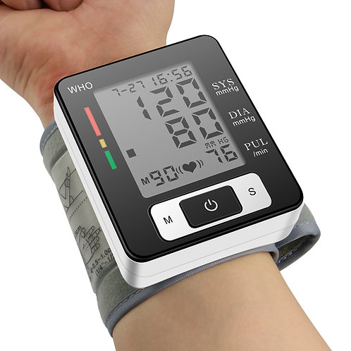 Pulse Blood Pressure Monitor Digital Device BP Sphygmomanometer