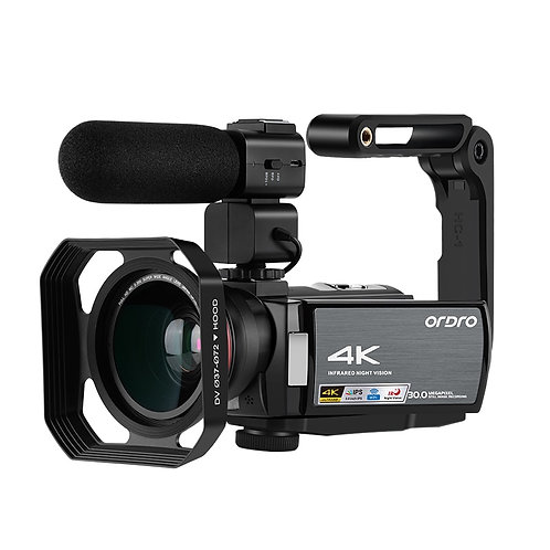 Video Camera 4K Digital Camcorder Full HD Ordro AE8 IR Night Vision WiFi Film