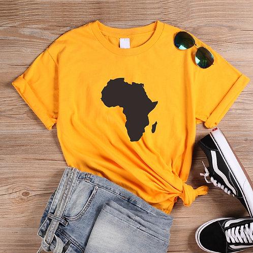 ONSEME Africa Map Graphic T Shirt Melanin T Shirts Women Streetwear Harajuku Tee
