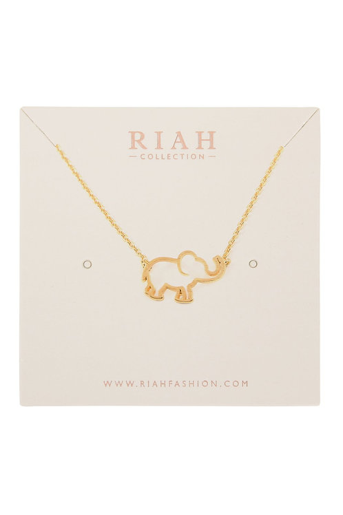 Hdnc3n82 - Elephant Cast Pendant Necklace