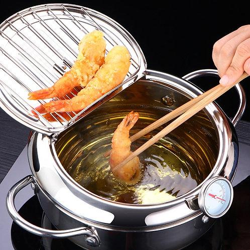 Tempura Temperature Meter Frying Deep Fryer Pot Pans Induction Heating Stainless