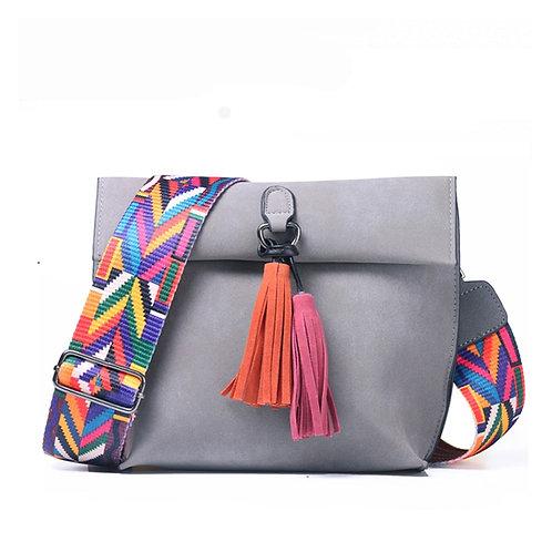 Tassel Shoulder Bags Female Designer Handbags Women Bags With Colorful Strap