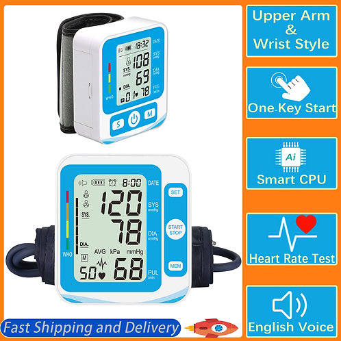Upper Arm Cuff Wrist Blood Pressure Monitor Digital Upper Arm Blood Pressure