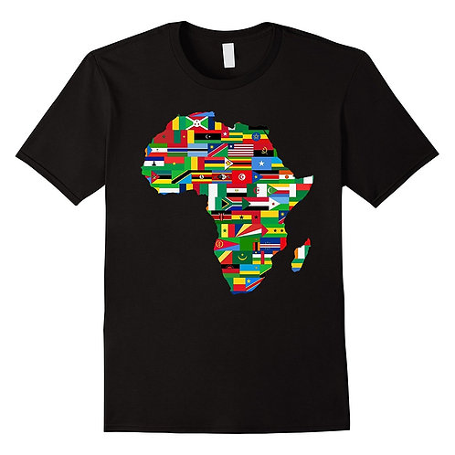 Africa Countries Flag Map Shirt African American Party Pride Summer T Shirt
