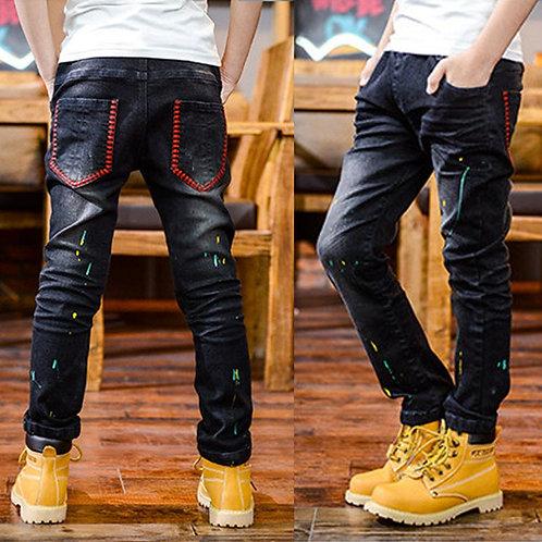 IENENS 5-13y Boys Clothes Slim Straight Jeans Classic Bottoms Children Denim