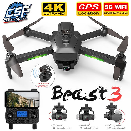 NEW SG906 MAX/Pro2 GPS Drone With Wifi FPV 4K Camera Three-Axis Gimbal Brushless