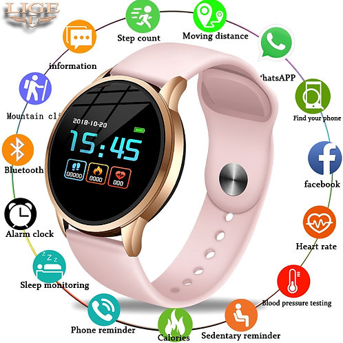 LIGE Fitness Tracker Smart Watch Waterproof Sport for IOS Android Phone Smart