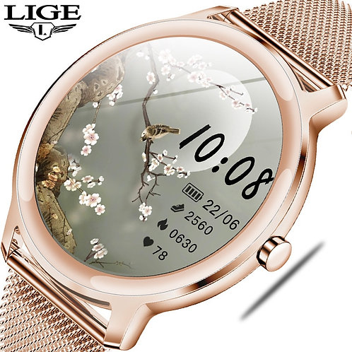 LIGE  Watch Women Heart Rate Blood Pressure Monitoring for Android IOS