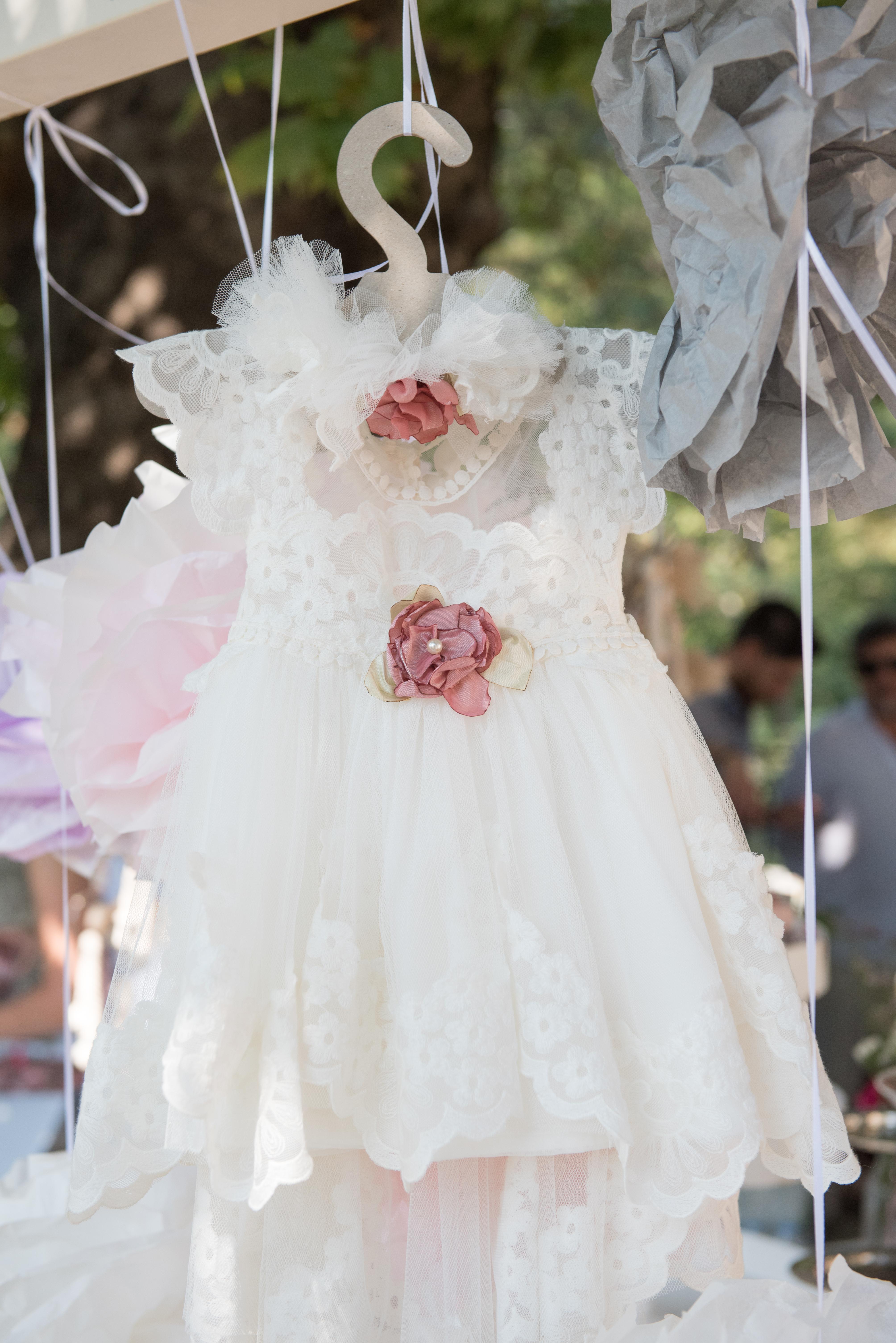 χειροποίητο φόρεμα βάπτισης