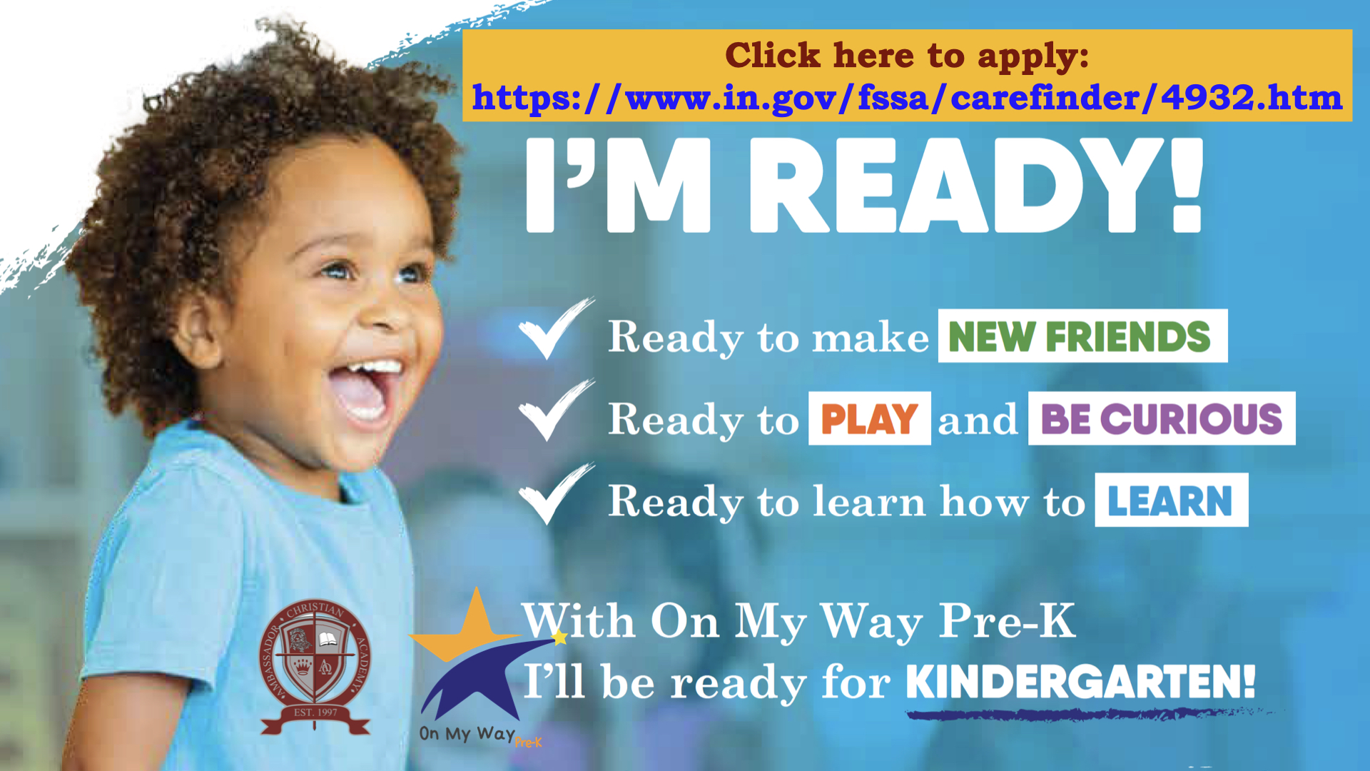 On My Way PreK Flyer